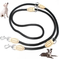 new durable double dog leash escape proof adjustable pet training leash puppy walking leash pet dog leads for two dogs running