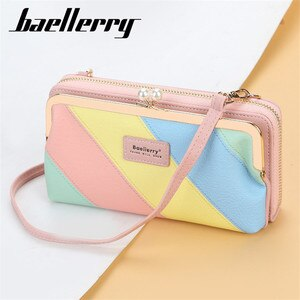 Hit Color Women Shoulder Bags 2020 New Fashion Ladies Phone Wallet Big Capacity Zipper Womens Crossbody Bags PU Leather Tote Bag