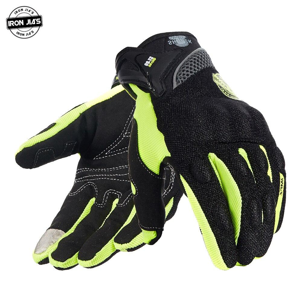 Мотоциклетные Перчатки IRON JIA'S, Мужские дышащие перчатки с пальцами, защитная Экипировка для мотокросса, ездовые Перчатки для мотоциклистов,...