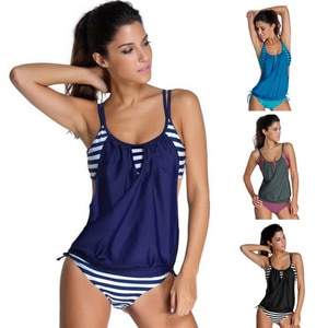 Tankini Swimsuit female Bathing Suits Plus Size Two Piece Bikini Set Women Swimwear Brazilian Maillot De Bain