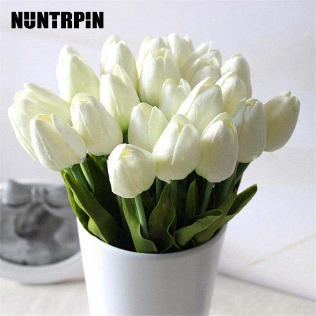 Искусственный цветок тюльпана из искусственной кожи, 12 шт., искусственный букет для свадебного украшения, цветы для домашнего декора