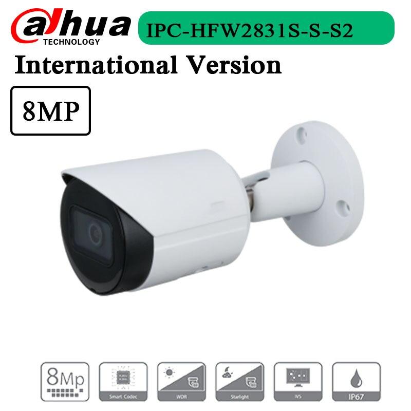 Frete grátis 8mp lite ir fixo-focal bala câmera de rede IPC-HFW2831S-S-S2