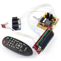 assembeld motor remote control preamp alps volume pot with lcd display