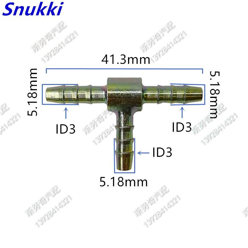 Conector universal ID3 Conector en T línea de combustible conector rápido accesorios metálicos 5 uds por lote