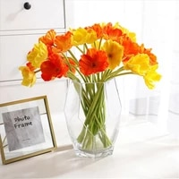 artificial poppies flowers wedding festivals scene stage room diy layout bouquet home decor accessories real touch silk flower