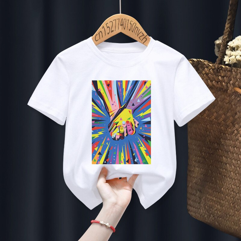Pride Funny Boy Girl T-shirts Kid Children Anime Gift Present Little Baby Harajuku Clothes,Drop Ship