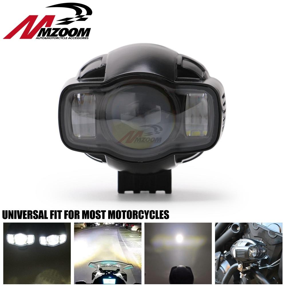 Motorcycle Universal Fog light 22-40mm IP65 LED Motorcycle Headlight With USB Charger For Yamaha Kawasaki BMW Honda KTM ATV UTV