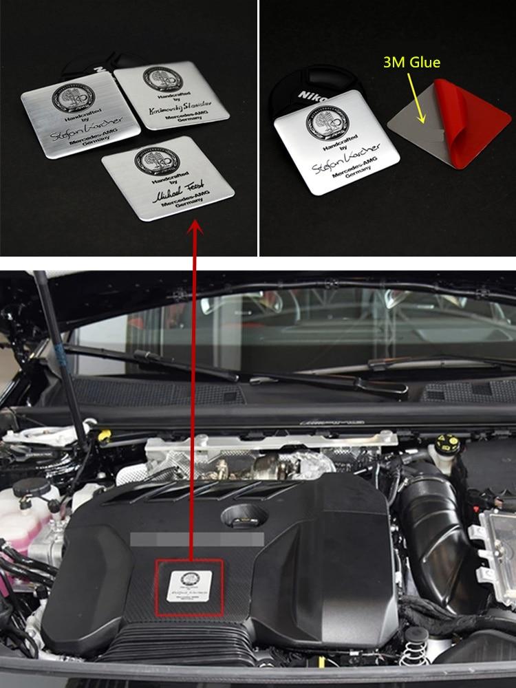 Алюминиевый сплав AFFALTERBACH Автомобильная наклейка с эмблемой для Mercedes benz GLE GLS ML GLK CLS GLA CLA-class AMG, модификация двигателя