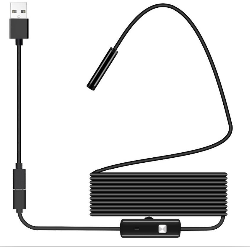 USB Endoscope 1080P IP67 Waterproof HD Borescope Flexible Inspection Snake Camera 6 LED Lights for Android Phone PC Smartphone 8 0 mm wifi endoscope 2mp hd waterproof borescope 8 lde lights rigid cable snake camera for ios iphone android smartphone pc b2