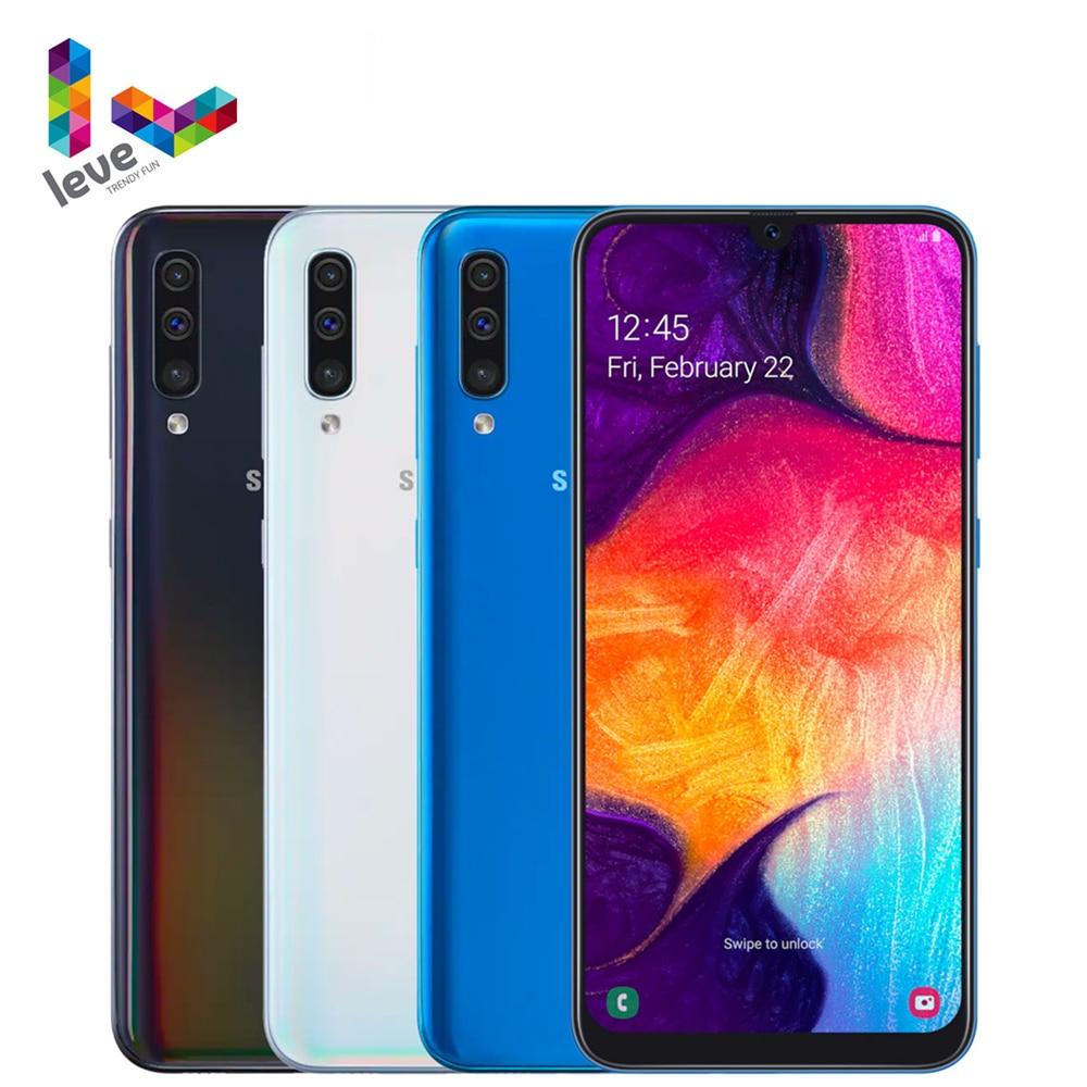 Перейти на Алиэкспресс и купить Глобальная версия Samsung Galaxy A50 A505F A505FN 2SIM мобильный телефон 6,4 дюйм4 Гб RAM 128 ГБ ROM Octa Core 25MP Android смартфон
