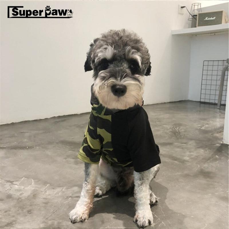 Nueva ropa para perros mascota cachorro suave algodón con capucha abrigo Bulldog Schnauzer chaqueta para Chihuahua para perros gatos en invierno mantener caliente BOC15