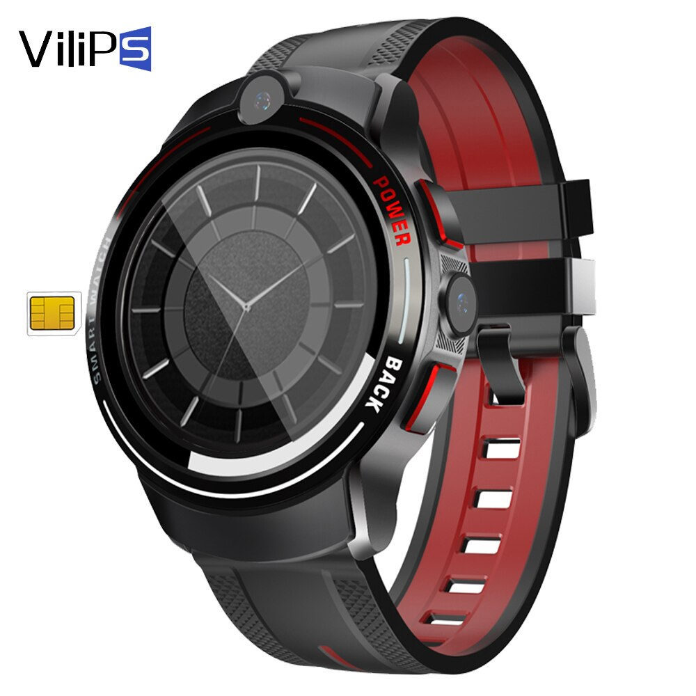 Vilips 4G Smart Watch Round Display Nano Sim Dual Camera IP68 Waterproof GPS 3G 4G Android Smartwatch