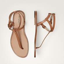 2021 Summer Flip Flops Shoes Woman Brown Ankle Buckle Flat With Gladiator Sandals Flats Bohemia Vaca