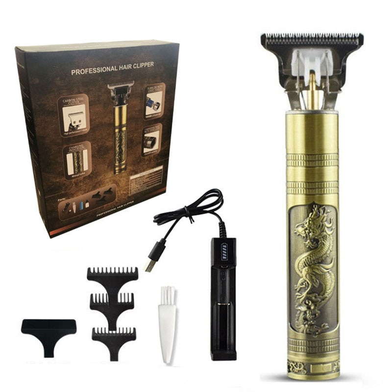 Professional Rechargeable Hair Clipper, USB Cordless Clipper, Men's Beard Trimmer, Styling Suit, Easy to Carry enlarge