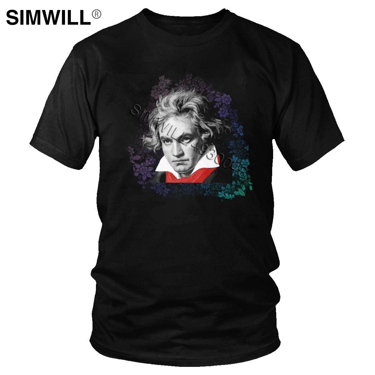 Camiseta de Ludwig Van beetken para hombre, ropa de manga corta con...