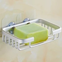 nail free shower soap holder bathroom storage box container soap dish basket wall mounted tray rack bathroom accessories