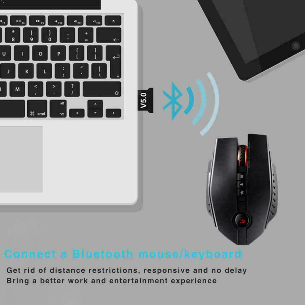 USB Bluetooth Adapter Dongle For Computer Laptop PC Audio Receiver Music Mouse Aux PS4 Transmitter Speaker M7W4