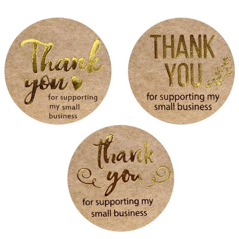 LBSISI Life 500 uds/rollo de etiqueta engomada de papel Kraft para bodas, fiestas de cumpleaños, suministros de decoración de panadería, sello de etiqueta, sobre, papelería