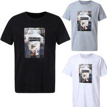 Printed Short Sleeve T Shirt Men Fashion Slim All Match Streetwear Tops Mens Hot Selling Clothest Shirts Novelty High Quality