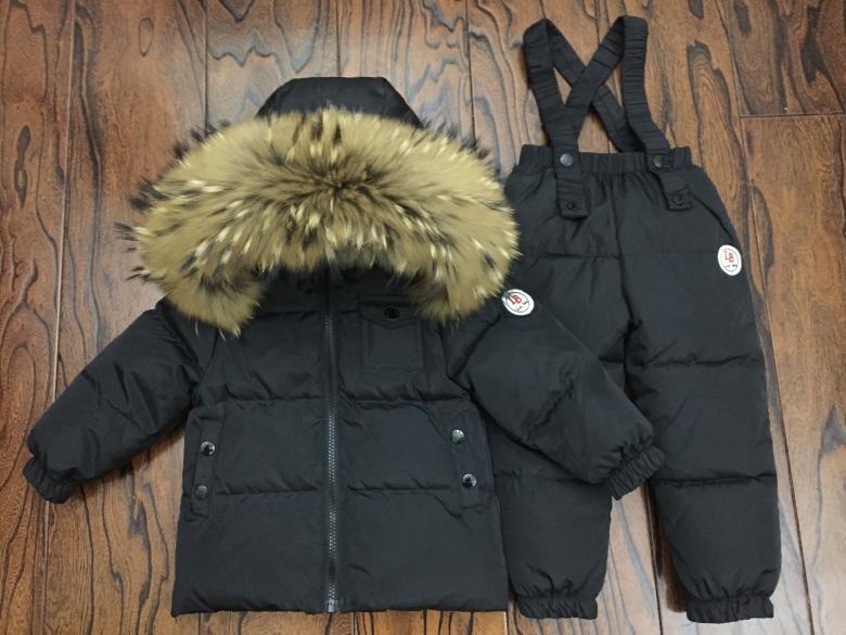 Russian Winter Down Suit Super Warm Children Winter Suits Boys Girl Duck Down Jacket+overalls 2 Pcs Clothing Set  Kids Snow Wear enlarge