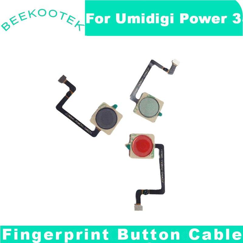 New UMI Power 3 Fingerprint Button Sensor Flex Cable for UMIDIGI Power 3  Mobile  Phone