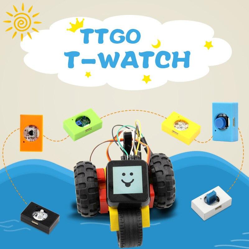 LILYGO ساعة قابلة للبرمجة T-Watch متعددة الوظائف وحدة الاستشعار برمجة عدة التعليم