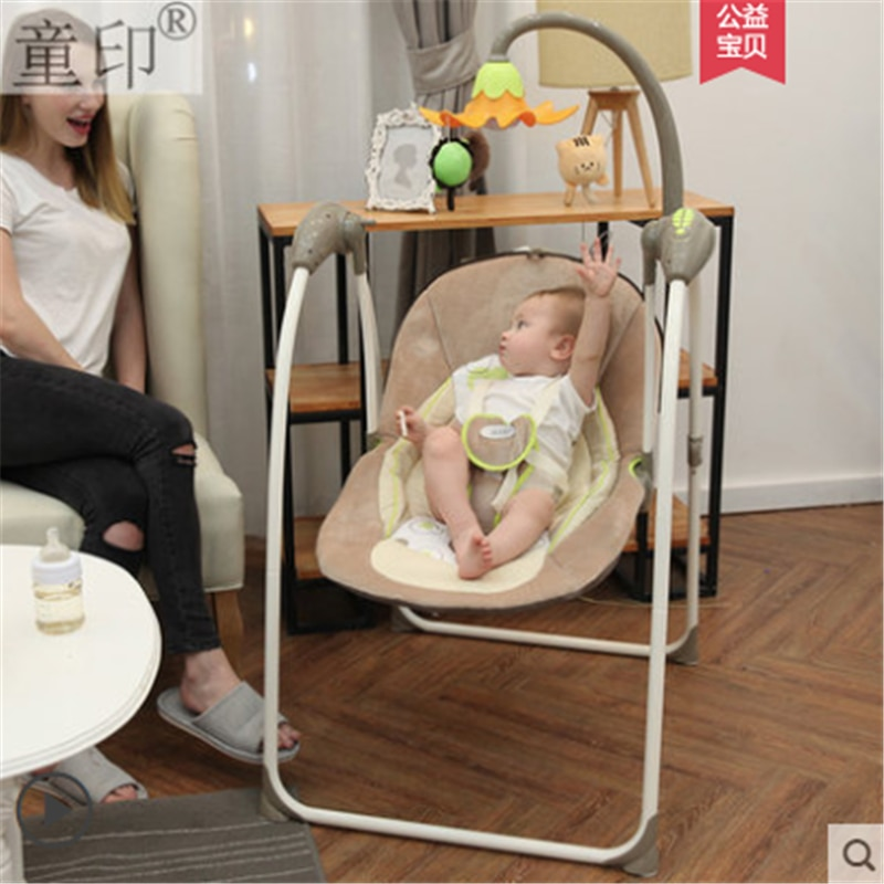 Baby rocking chair to sleep baby electric rocking chair cradle chair small rocking bed rocking chair soothing chair coax baby ar