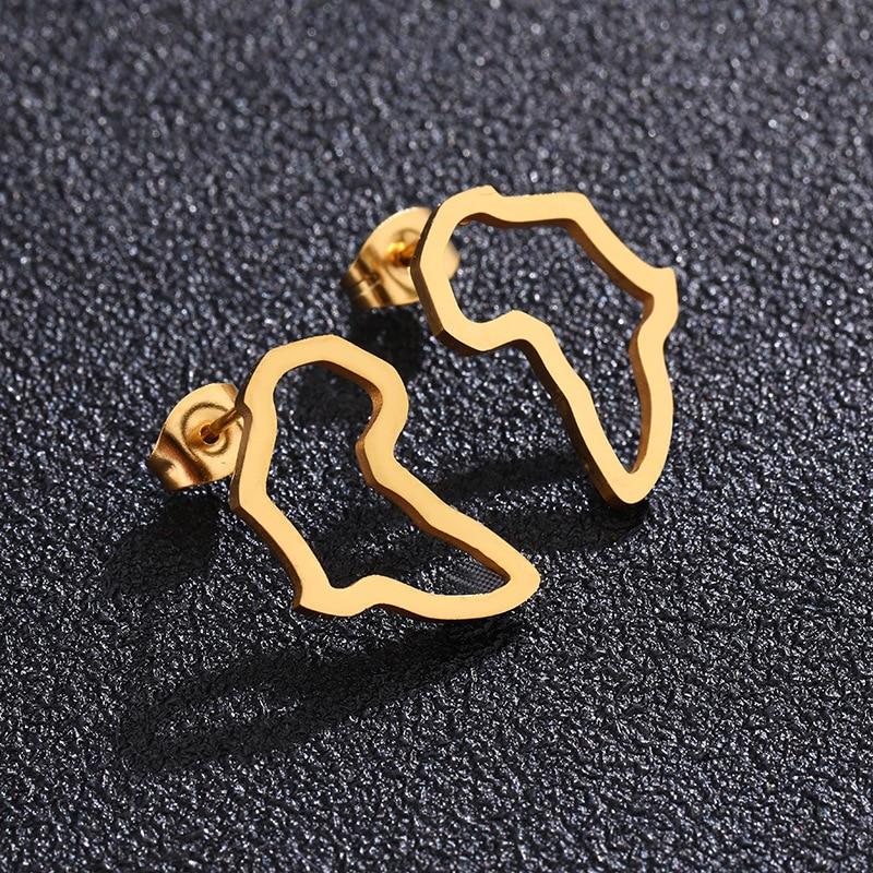 Серьги-гвоздики-с-картой-Африки-серебристые-золотистые-африканские-серьги-маленькие-украшения-традиционные-этнические-подарки
