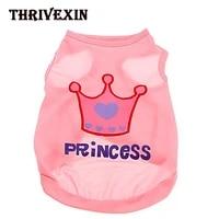 new hot pet supplies dog clothes fashion pets dog cat cute crown letter vest teddy clothes dog costume pet clothes dog clothes