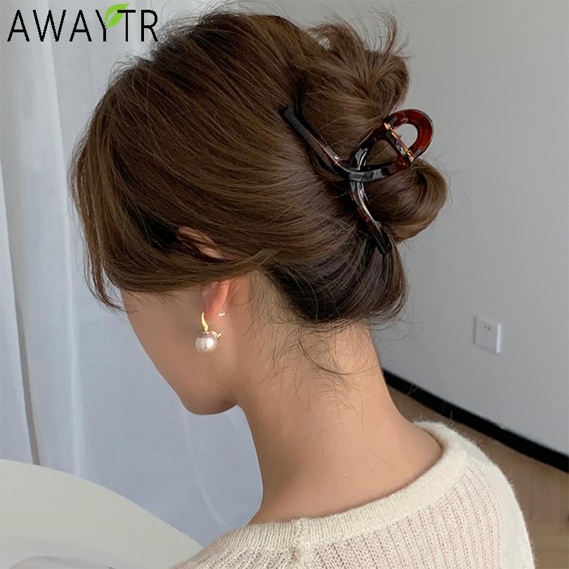 Barrettes Fashion Women Metal Hair Claws Hair Accessories Hairclips Hairpins Ladies Hairgrip Headwea
