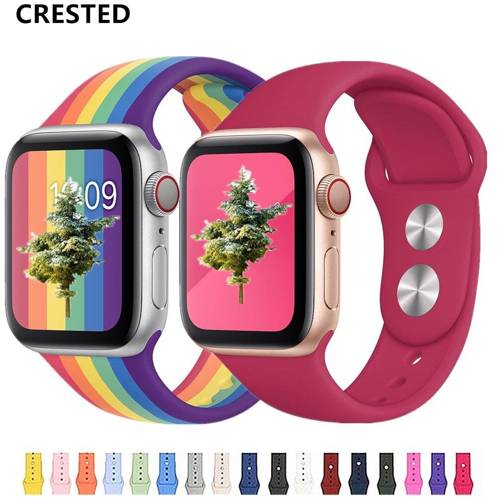 Correa de reloj Apple apple Watch banda 44mm/40mm 42mm 38mm pulsera de silicona correa de reloj para iwatch correa Apple watch serie 5 4 3 2 1 44mm