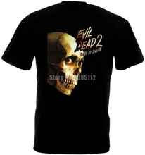 Evil Dead 2 Movie Poster Horror Mens Tshirt Hip Hop Streetwear T Shirt Homme 2019 T Shirts O Neck Tee Shirt For Men