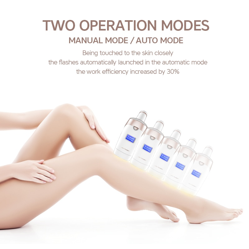 MKBOO IPL Laser Epilator LCD Display 1300000 Pulses Electric Hair Removal Permanent Bikini Trimmer Home Use Devices for Woman enlarge