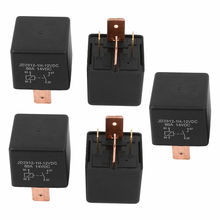 DC 12V Coil 80A 4 Pins SPST Car Automotive Alarm Security Power Relay 5pcs