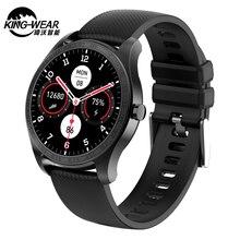 Kingwear KW11 Смарт часы для мужчин 1,2 дюймов AMOLED сенсорный Экран часы браслет для занятий спортом пульсометр IP68 Водонепроницаемый Смарт часы