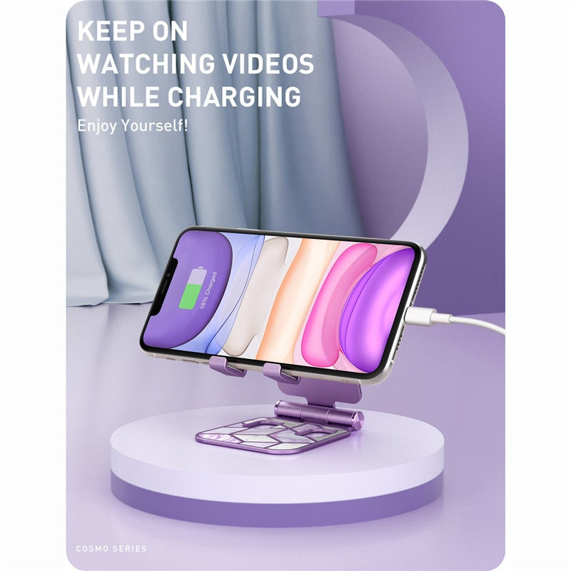 Купить с кэшбэком I-BLASON Adjustable Cell Phone Stand Holder Phone Dock Multi Angle Compatible with Smart Phone For iPhone For Android Smartphone