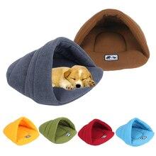 6 couleurs doux polaire chien lits hiver chaud animal de compagnie tapis chauffant petit chien chiot chenil maison pour chats sac de couchage nid grotte lit