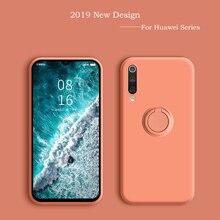 Flüssigkeit Silikon Fall Für Huawei P20 Lite Pro Auto Halter Abdeckung Fall Für Huawei P30 Lite Pro Mate 30 Pro 20 Pro Ehre 20 Pro
