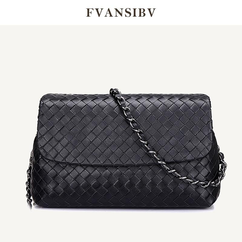 2021 Women's Fashion Leather Shoulder Bag Luxury Brand Design 100% Sheepskin Woven High-End Messenger Bag Large Capacity Spot