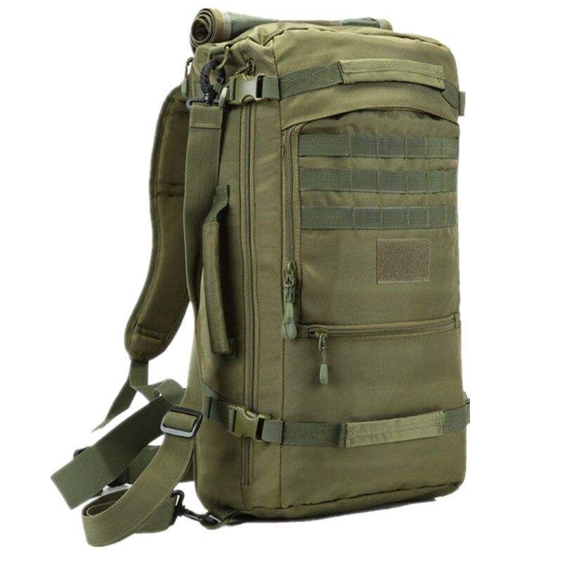 50L militar acampada táctica, fundas de caza, mochila de montañismo, mochila Molle de Nylon a prueba de agua, paquete de senderismo, mochila Unisex