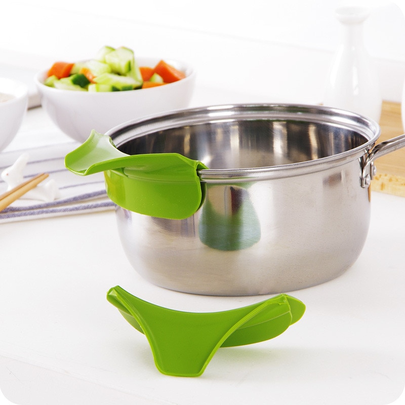 Kitchen Silicone Jars Funnel Pots Bowls Gadgets Tools Pans Soup Spout Accessories Keuken Accessoires