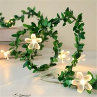 2040led rose flower led fairy string lights usb battery powered wedding christmas lights garland decorations for home outdoor