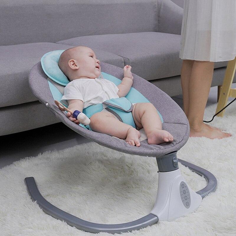 Baby Electric Rocking Chair Multifunctional Rocking Bed Household Cradle Coax Baby To Sleep Newborn Comfort Chair Crib Cradle enlarge
