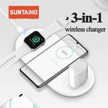 Suntaiho 10W szybka bezprzewodowa ładowarka do 11 Pro XS Max XR X 8Plus do Samsung Galaxy S10 Plus S9 S9 + S8 uwaga 9 USB Qi ładowarka