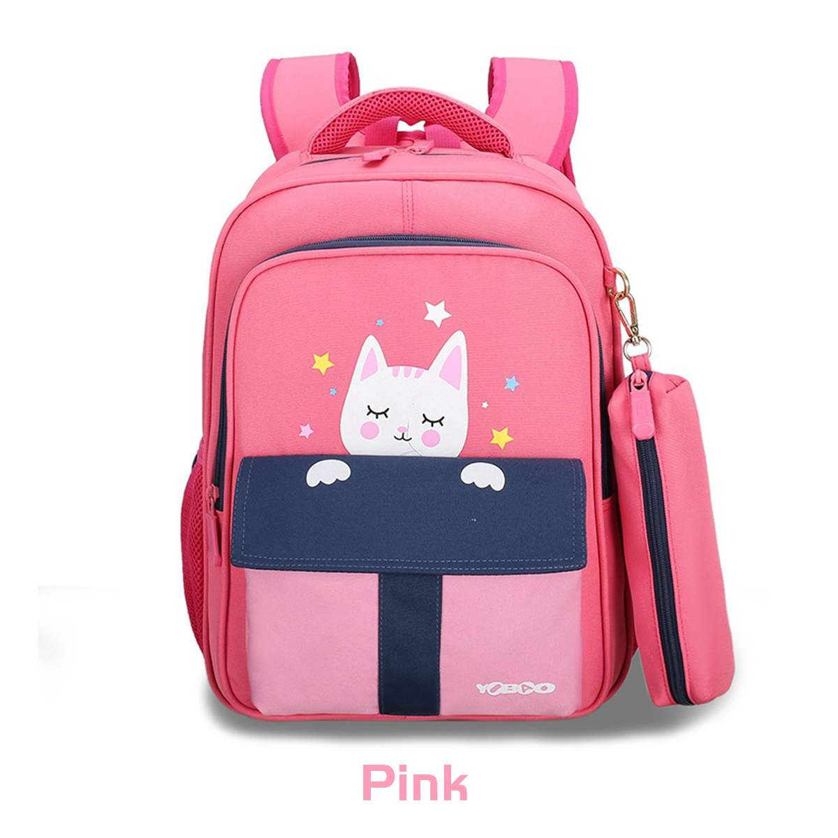 Bolsas para la escuela de niñas lindo encantador mochila para niños de caricaturas gato Rana ~ Animal mochila escolar de niños de primaria