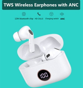 Hot TWS  Wireless Bluetooth 5.1 Earphones Earbuds with ANC Noise Cancellation Headphones High Quality Wireless Headsets.