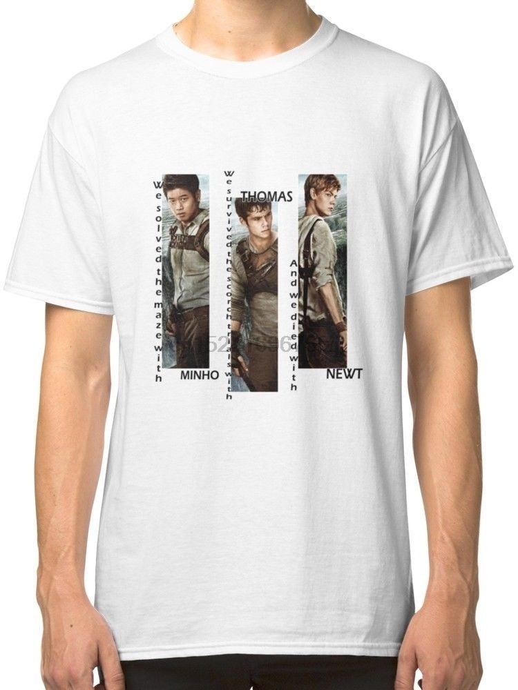 Labirynt Runner - Minho Thomas Newt męska biała koszulka Tees odzież