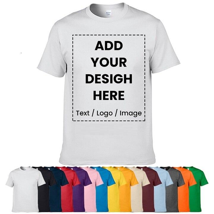 Camiseta personalizada de alta calidad, diseña tu propio logotipo, foto, texto impreso, uniforme, equipo de empresa, camiseta personalizada, impresión
