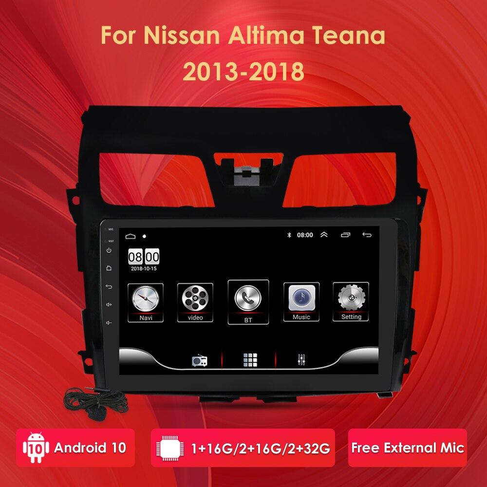 10 pulgadas Android 10 2G RAM 32G ROM coche navegación GPS Multimedia Autoradio para Nissan Altima Teana 2013-2018 Canbus micrófono externo
