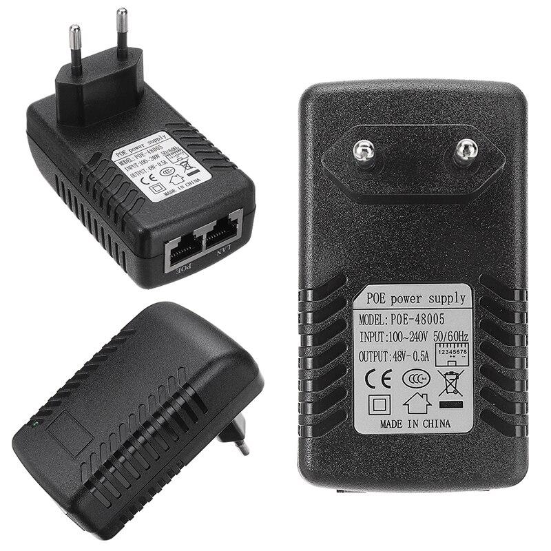 Mayitr 1pc dc 48 v 0.5a parede ue plug poe adaptador ethernet injector profissional rj45 ethernet ip telefone câmera fonte de alimentação